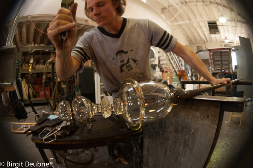 Jason working on developing shapes and lids for the bulbous, luxurious vessels home ware line ..